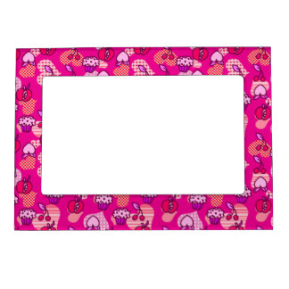 Valentines Day Fruit Pastry Pattern Magnetic Photo Frame