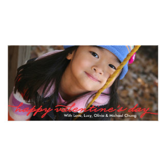 Valentine's Day Full Photo Script Red Card