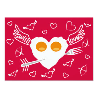 Valentine's day funny heart Custom Invitation