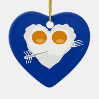 Valentine's day funny heart Custom Ornament