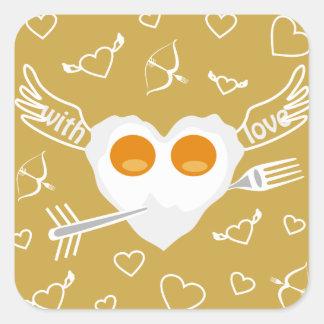 Valentine's day funny heart CustomSticker Square Sticker