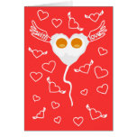 Valentine's day funny heart with eggs Custom  Card
