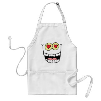 Valentine's Day Funny Hearts Adult Apron