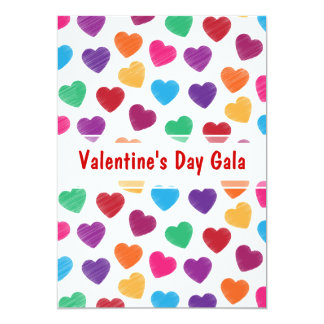 Valentine's Day Gala Ball or Dance Party Hearts Card