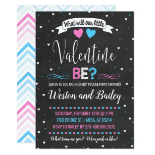 Valentine Baby Reveal Invitations Zazzle