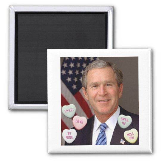 Valentine's Day George Bush Magnet