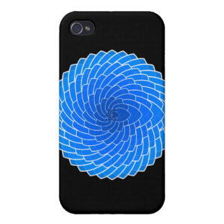 Valentine's Day Gift - Blue Hearts iPhone 4 Case