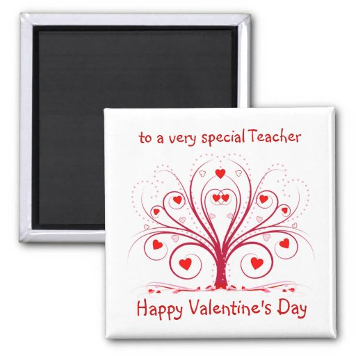 Valentine's Day Gift for Teachers - Square Magnet