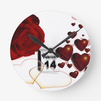 Valentines Day Gifts you can personalize, add name Round Wallclock