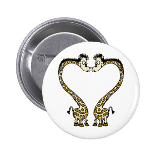 Valentine's Day Giraffee Heart Pin