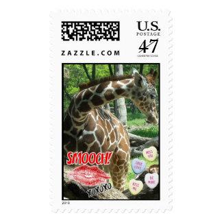 Valentine's Day Giraffee Postage
