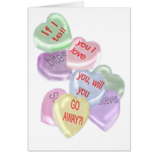 Valentines Day Go Away Greeting Card