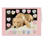 Valentine's Day Golden Retriever Greeting Card