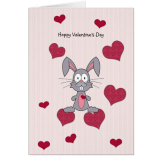 Bunny valentine cards