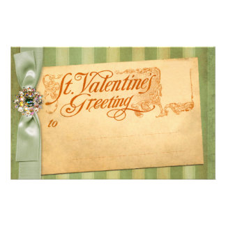 Valentine's Day Greeting Antique Vintage Stationery