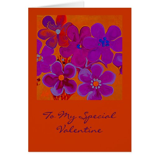 Valentines Day Greeting Card in hot colors
