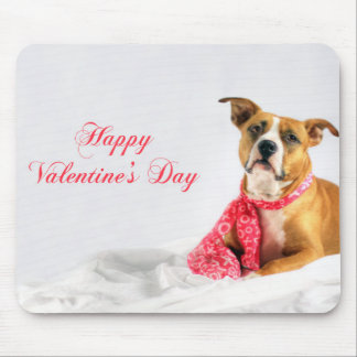 Valentine's Day Greeting for Dog Lover Mouse Pad