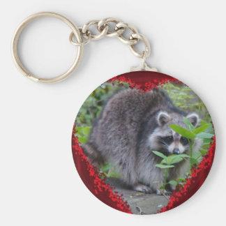 Valentine's Day Greeting - Shy Raccoon Keychain