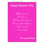 Valentine's day  greetings to a special friend card