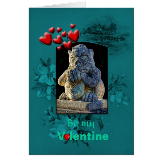 Valentines Day, Grumpy Grotesque Pleads Love Card
