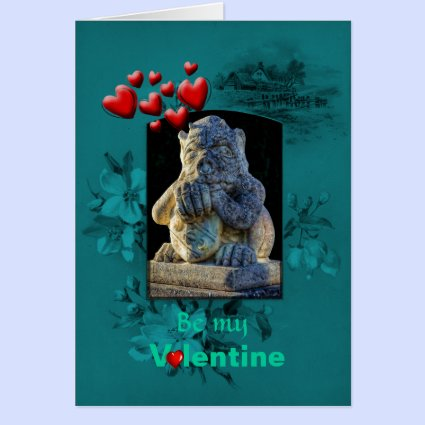 Valentines Day, Grumpy Grotesque Pleads Love Cards