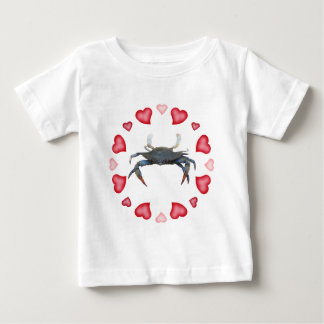 Valentine's Day Hard Shell Blue Crab Baby T-Shirt