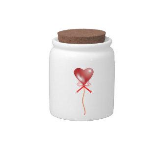 Valentine's Day Heart Balloon Candy Jar