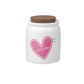 Valentine's Day Heart Candy Jar