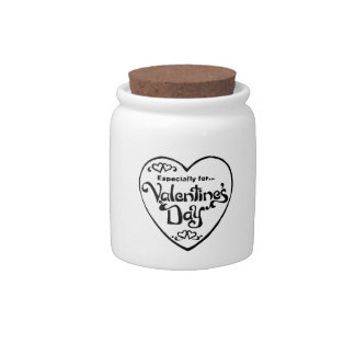 Valentines Day Heart Candy Jars