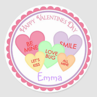 Valentines Day Heart Candy Stickers