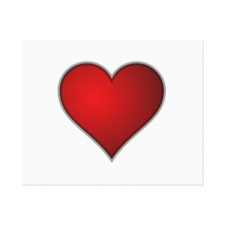 Valentine's Day Heart Stretched Canvas Prints