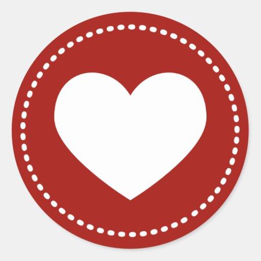 Valentine S Day Heart Classic Round Sticker Zazzle