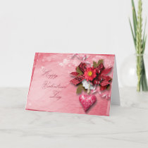 Valentine's Day - Heart Cluster Bow Holiday Card