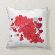 Valentine's Day - Heart Cluster Throw Pillow