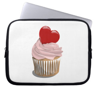 valentine's Day heart cupcake laptop sleeve