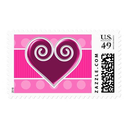 Valentine's Day Heart Custom Postage