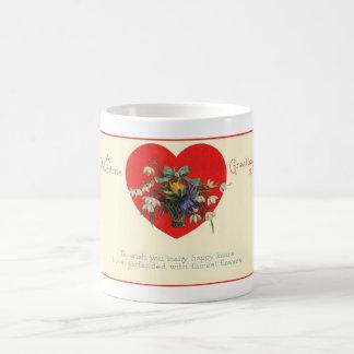 Valentine's Day Heart Floral & Verse Coffee Mug