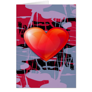 valentines day heart greeting card