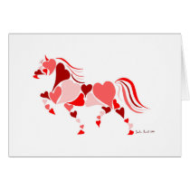 Valentines Day Heart Horse Card