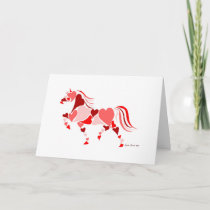 Valentines Day Heart Horse Holiday Card