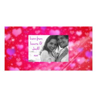 Valentine's Day Heart Lights Photo Card