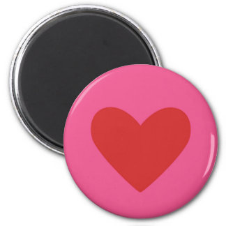 VALENTINE'S DAY HEART MAGNET - PINK COLORWAY