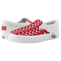 Valentine's Day Heart Pink Red Zipz Custom Slip-On Sneakers