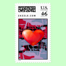 Valentine's Day Heart Stamp - this delightful and bright stamp is not only great for Valentine's day but for any other I love you occasion.