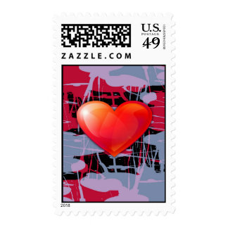 valentines day heart postage stamps