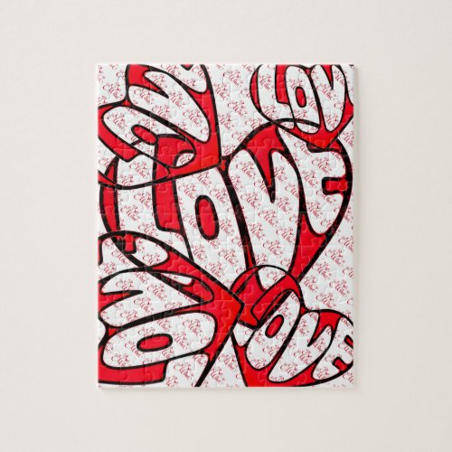 Valentine's Day Heart with Love Jigsaw Puzzle