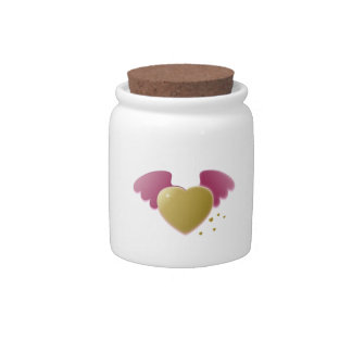 Valentine's Day Heart with Wings Candy Jars