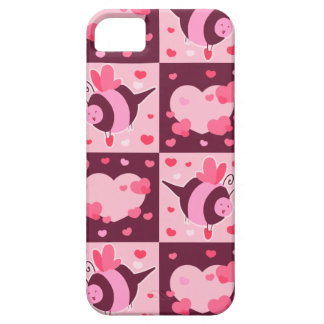 Valentine's Day Hearts and Bumble Bees iPhone 5 Cover