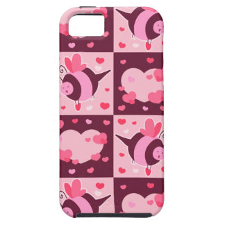 Valentine's Day Hearts and Bumble Bees iPhone 5 Covers