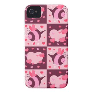 Valentine's Day Hearts and Bumble Bees Case-Mate iPhone 4 Cases